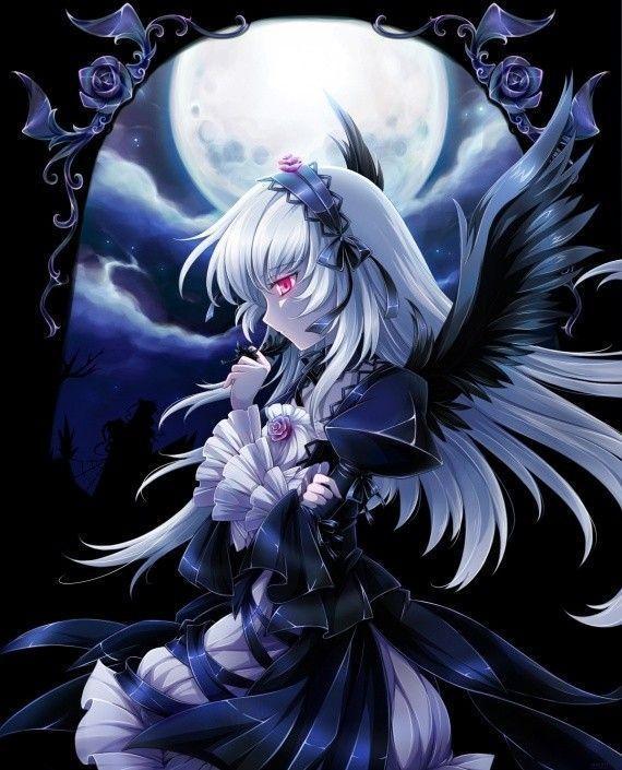 Manga ange manga ange noire - Image femme manga ...